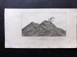 Phillips (Pub) 1823 Antique Print. Vesuvius in 1794. Naples, Italy